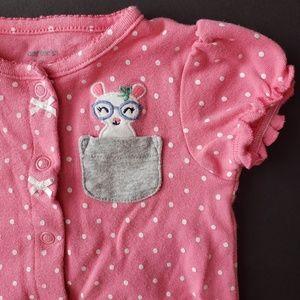 Baby Girls Short Sleeve Bubble Romper